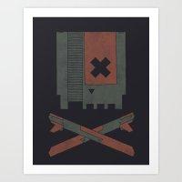 The Nes Skull Art Print