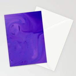 Swirl Abstract Fluid Purple Acrylic Art Stationery Cards