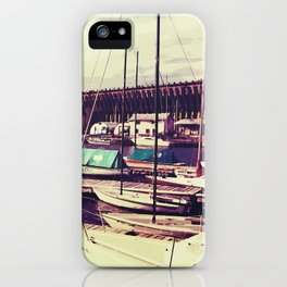 Sailboats In Dock iPhone Case