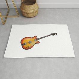 Hollow Body Guitar Rug