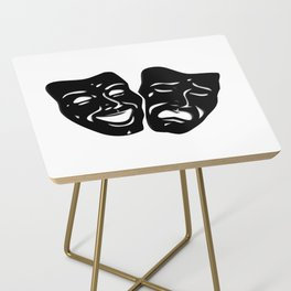 Theater Masks of Comedy and Tragedy Side Table