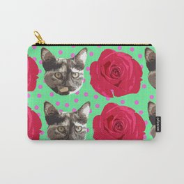 Calico Roses Carry-All Pouch