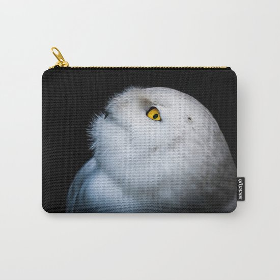 Winter White Snowy Owl Carry-All Pouch