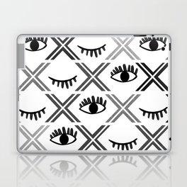 Original Black and White Eyes Design Laptop & iPad Skin