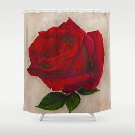 Red Rose - Symbol of Love Shower Curtain