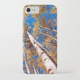 Aspen Trees Against The Sky In Crested Butte, Colorado iPhone Case