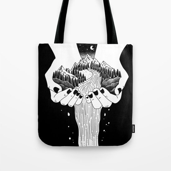 the world in my hand Tote Bag