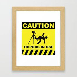 Tripod In Use Framed Art Print