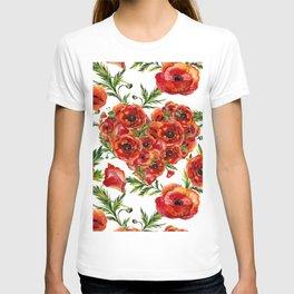 Poppy Heart pattern T-shirt