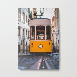 Lisbon's Tram Metal Print