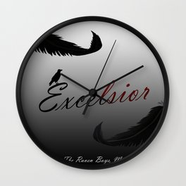 EXCELSIOR | The Raven Cycle by Maggie Stiefvater Wall Clock