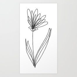 Simple Flower Art Prints For Any Decor Style Society6