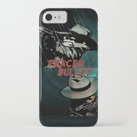 hobbes iPhone & iPod Cases featuring Calvin & Hobbes: Tracer Bullet Alternate by Gallery 94