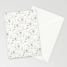 Seamless pattern with native American symbols Stationery Cards