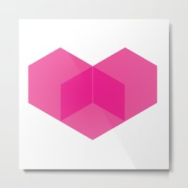 Love heart pink Metal Print