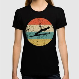 Ski Jumping Vintage Retro Ski Jumper T-shirt