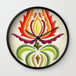 Fancy Mantle on Vintage Background Wall Clock