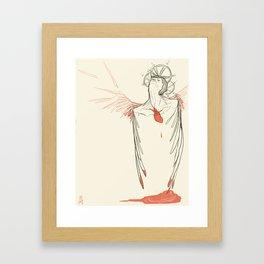 Too Much Heart Framed Art Print