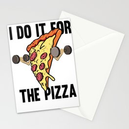 Fitness Pizza Sports Fast Food Diet funny gift Stationery Cards