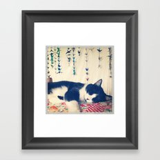 Cat Nap Framed Art Print