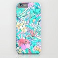 Pretty Pastel Hawaiian Hibiscus Print iPhone 6 Slim Case