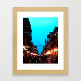 New Orleans Bourbon Street Dusk Framed Art Print