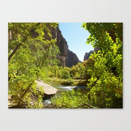 The Virgin River in Zion Canvas Print
