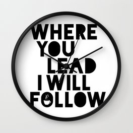 Gilmore Girls Where You Lead Theme Song Wall Clock