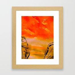 break through...a vivid radiance Framed Art Print