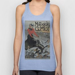 1899 vintage French motorcycle ad by Steinlen Unisex Tank Top