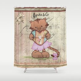 Sweet little tiger Shower Curtain