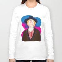 cassia beck Long Sleeve T-shirts featuring Qué Onda Beck by Renata Senna