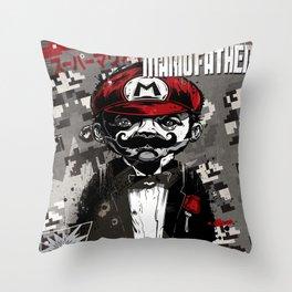 Super Mario Father Throw Pillow