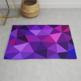 Crystal Galaxy Low Poly Rug