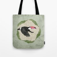 toucan Tote Bags featuring Toucan by Aquamarine Studio
