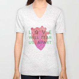 Love will tear us apart Unisex V-Neck