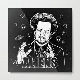Aliens Guy (Giorgio Tsoukalos) Metal Print