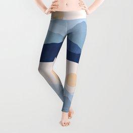 Abstraction_SUN_MOUNTAINS_LAYERS_POP_ART_M008B Leggings