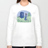 adventure Long Sleeve T-shirts featuring Adventure in the Great Wide Somewhere by Karen Hallion Illustrations