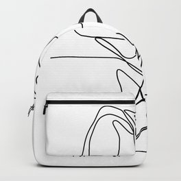 Largemouth Bass Jumping Continuous Line Backpack