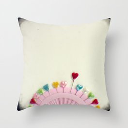 For the love of pins Throw Pillow