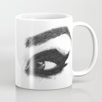 catwoman Mugs featuring Catwoman by Кaterina Кalinich