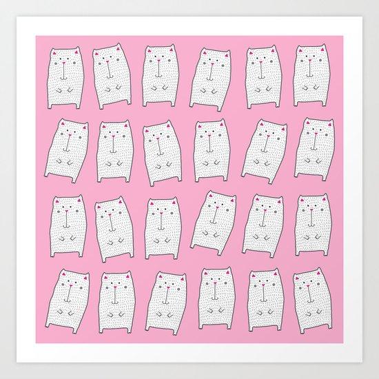 berry kitties Art Print