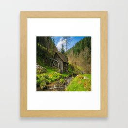 Watermill Life in the Country Framed Art Print