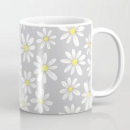 simple daisies on gray Kaffeebecher