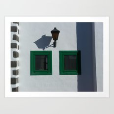Shadows and Windows Art Print