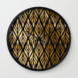 Havana Sultry Night Gold and Black Art Deco Wall Clock