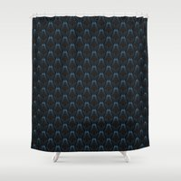 abyss Shower Curtains featuring abyss by westchestrian_art