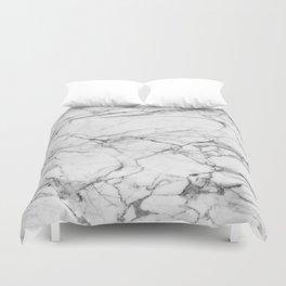 White Marble Stone Duvet Cover
