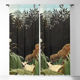 Henri Rousseau - Scouts Attacked by a Tiger Blackout Curtain